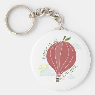 Vierter Grad-Lehrer-Heißluft-Ballon Apple Schlüsselbänder
