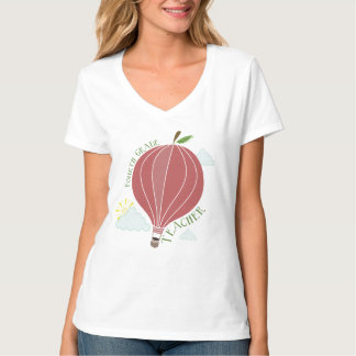 Vierter Grad-Lehrer-Heißluft-Ballon Apple T-Shirts