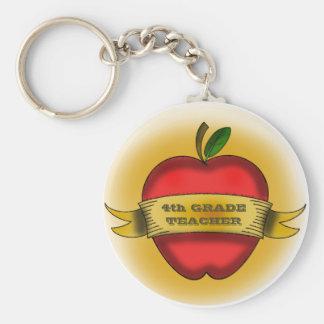 vierter Grad Lehrer Keychain Standard Runder Schlüsselanhänger
