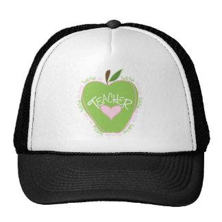 Vierter Grad-Lehrer-rosa und grünes Apple Baseballmütze