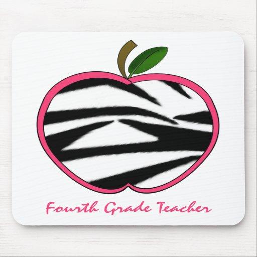 Vierter Grad-Lehrerzebra-Druck Apple Mauspads