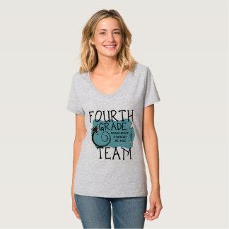 Vierter Grad-Team-Lehrer-T - Shirt