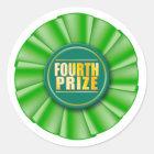 vierter prize Aufkleber der grünen Rosette