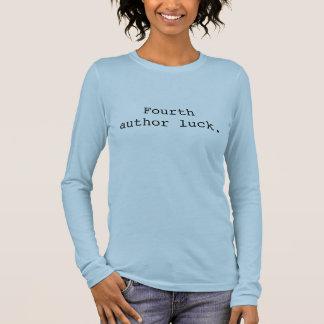 Viertes Autornglück Langarm T-Shirt