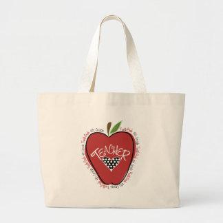 Viertes Grad-Lehrer-Rot Apple Jumbo Stoffbeutel