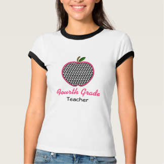Viertes Grad-Lehrer-Shirt - Hahnentrittmuster T-Shirts