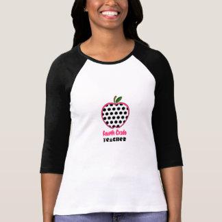 Viertes Grad-Lehrer-Shirt - Polka-Punkt Apple Tshirts