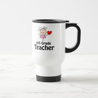 Viertes Grad-Lehrer-Strichmännchen Edelstahl Thermotasse