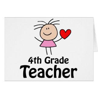 Viertes Grad-Lehrer-Strichmännchen Grußkarte
