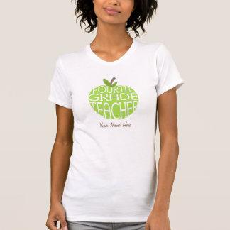 Viertes Grad-Lehrer-T-Shirt - grünes Apple Hemd