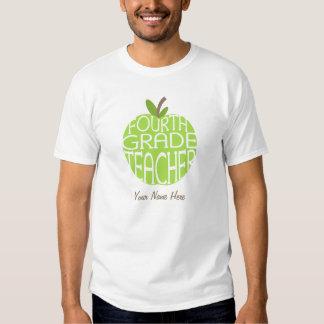 Viertes Grad-Lehrer-T-Shirt - grünes Apple Tshirt