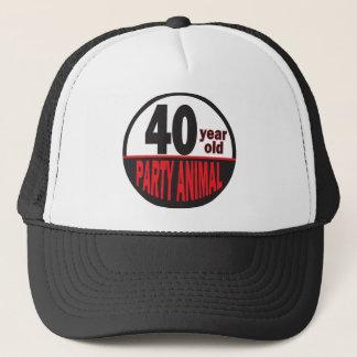 Vierzig 40. Geburtstag des Jährig-Party-Tier-| Truckerkappe