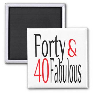 Vierzig und fabelhaftes im Rot und im Schwarzen Quadratischer Magnet