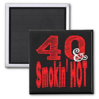 Vierzig und Rauchen heiß Quadratischer Magnet