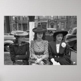 Vierzigerjahre Chicago-Hut-Mode Poster