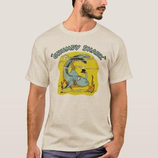 Vierzigerjahre mürrischer Haifisch T-Shirt