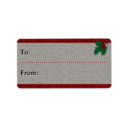 Vierzigerjahre Weihnachten - Zu-Von - Adress Aufkleber