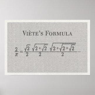 Viètes PU-Formel - Mathe-Plakat Poster