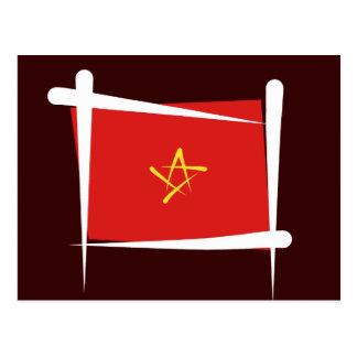 Vietnam-Bürsten-Flagge Postkarte