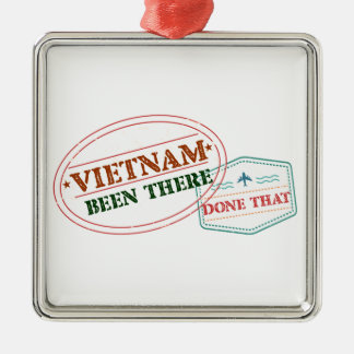 Vietnam dort getan dem quadratisches silberfarbenes ornament