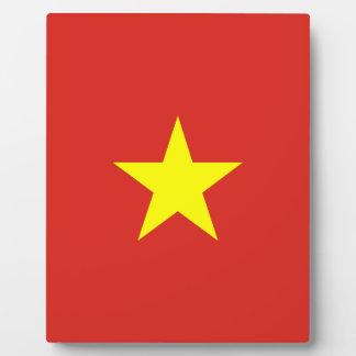 Vietnam-Flagge Fotoplatte