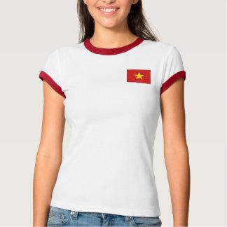 Vietnam-Flagge + Karten-T - Shirt