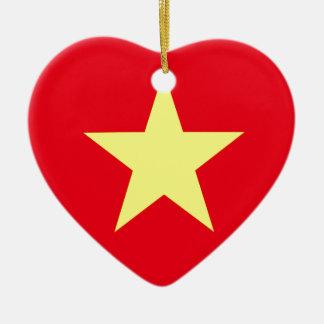 Vietnam-Flagge Keramik Ornament