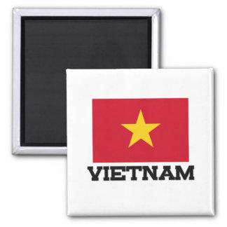 Vietnam-Flagge Quadratischer Magnet