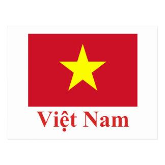 Vietnam-Flagge mit Namen auf Vietnamesen Postkarten