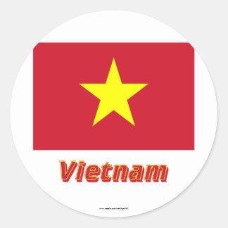 vietnam flagge aufkleber. Black Bedroom Furniture Sets. Home Design Ideas