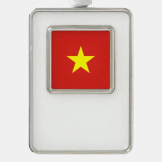 Vietnam-Flagge Rahmen-Ornament Silber