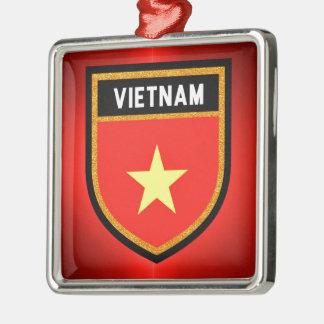 Vietnam-Flagge Silbernes Ornament