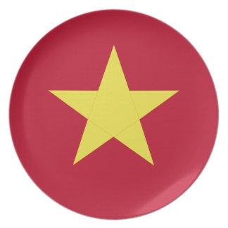 Vietnam-Flagge Teller
