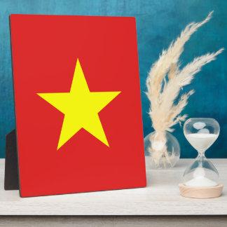 Vietnam-Flaggen-Gelb-Stern-Plakette Fotoplatte