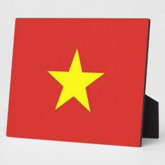 Vietnam-Flaggen-Plakette Fotoplatte