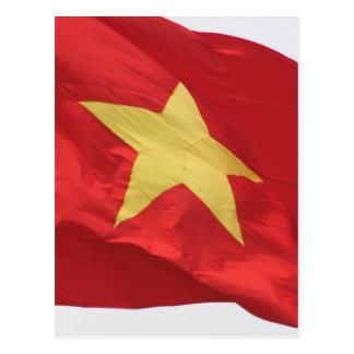 Vietnam-Flaggenrot Postkarte