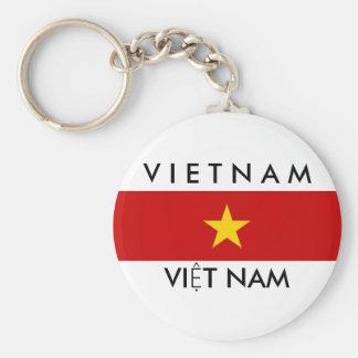 Vietnam-Landesflaggenamen-Textsymbol Schlüsselanhänger