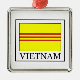 Vietnam Quadratisches Silberfarbenes Ornament