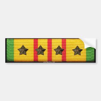 Vietnam-Service-Band - 4 Kampagnen-Sterne Autoaufkleber