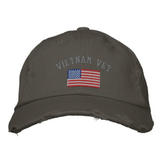 Vietnam-Tierarzt mit amerikanischer Flagge Bestickte Baseballcaps