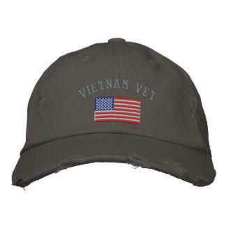 Vietnam-Tierarzt mit amerikanischer Flagge Bestickte Mützen