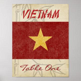 Vietnam-Tischnummer Poster
