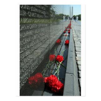 Vietnam-Veterane Denkmal-Wand Postkarte