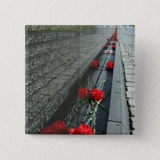 Vietnam-Veterane Denkmal-Wand Quadratischer Button 5,1 Cm