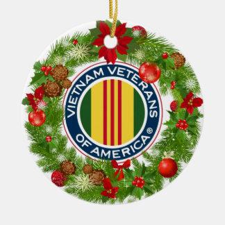 Vietnam-Veterane der Amerika-Weihnachtsverzierung Keramik Ornament