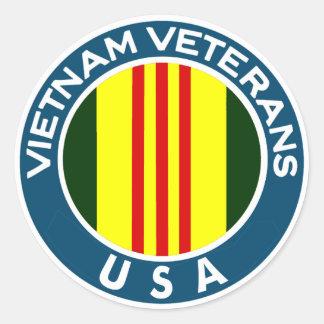 Vietnam-Veterane der USA Runder Aufkleber
