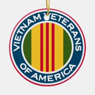 Vietnam-Veterane von Amerika-Logo Rundes Keramik Ornament