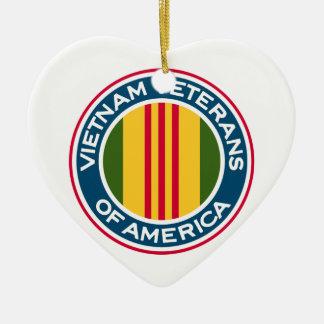 Vietnam-Veterane von Amerika-Logo Keramik Herz-Ornament