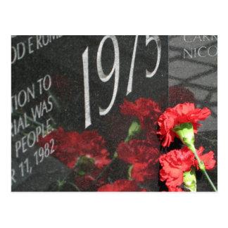 Vietnam-Veteranen-Erinnerungswand-Blume Postkarte