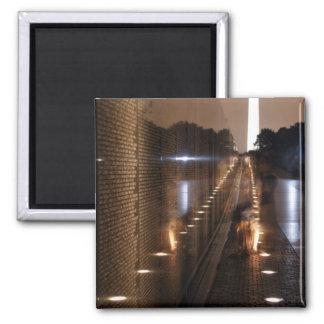 Vietnam-Veteranen-Erinnerungswand-Foto Quadratischer Magnet